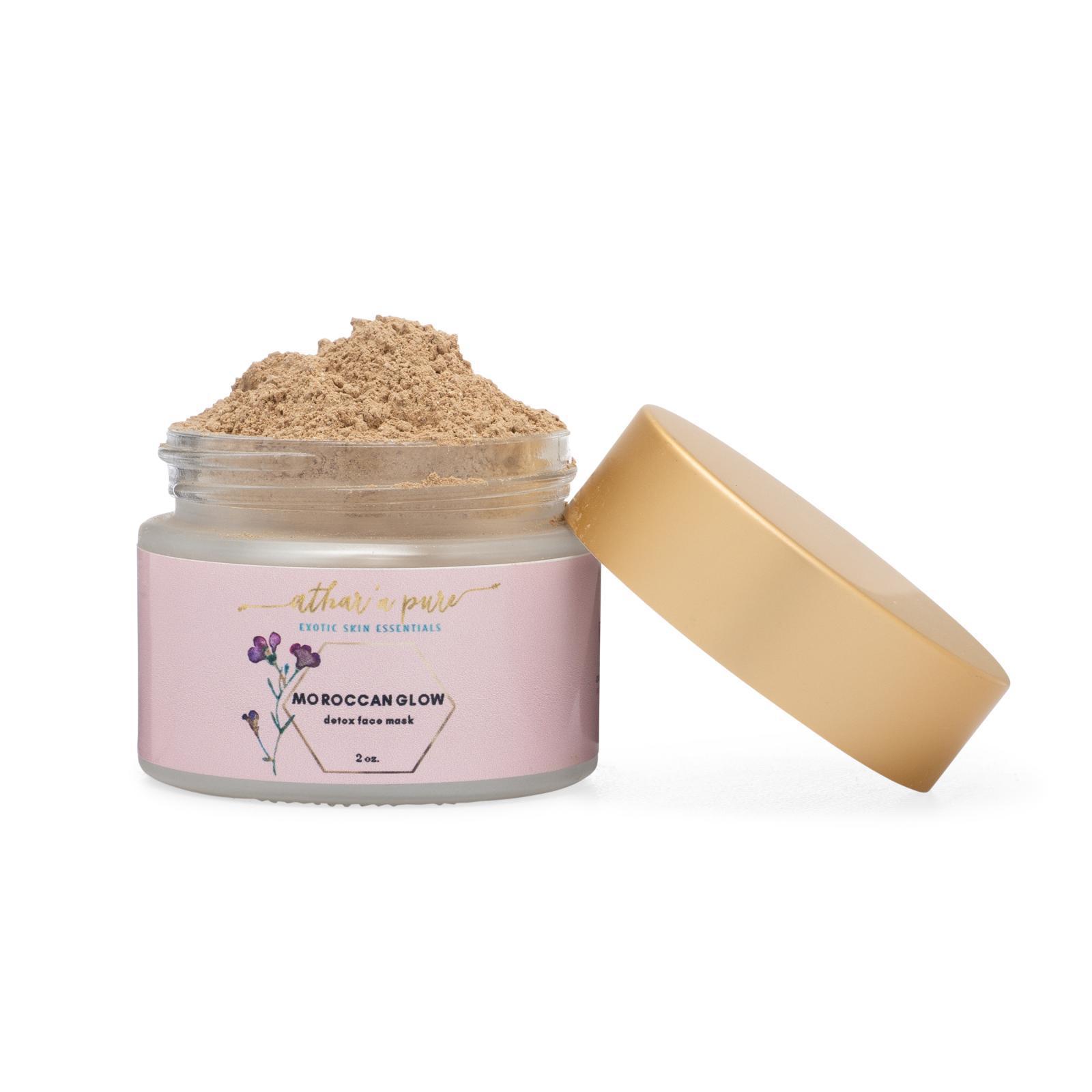 Moroccan Glow Detoxifying Face Mask™ (Vegan, 100% Natural)