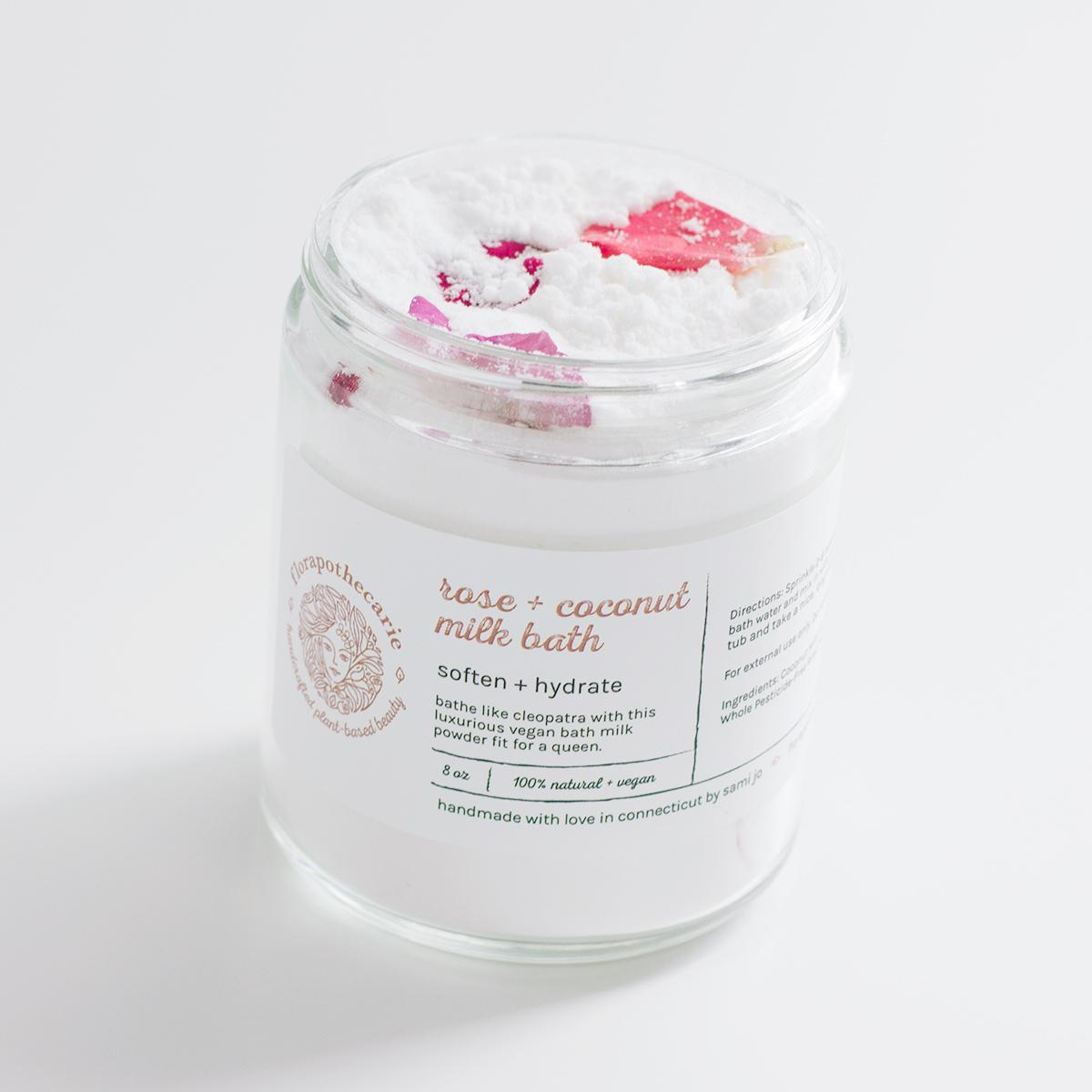 Rose + Coconut Milk Bath