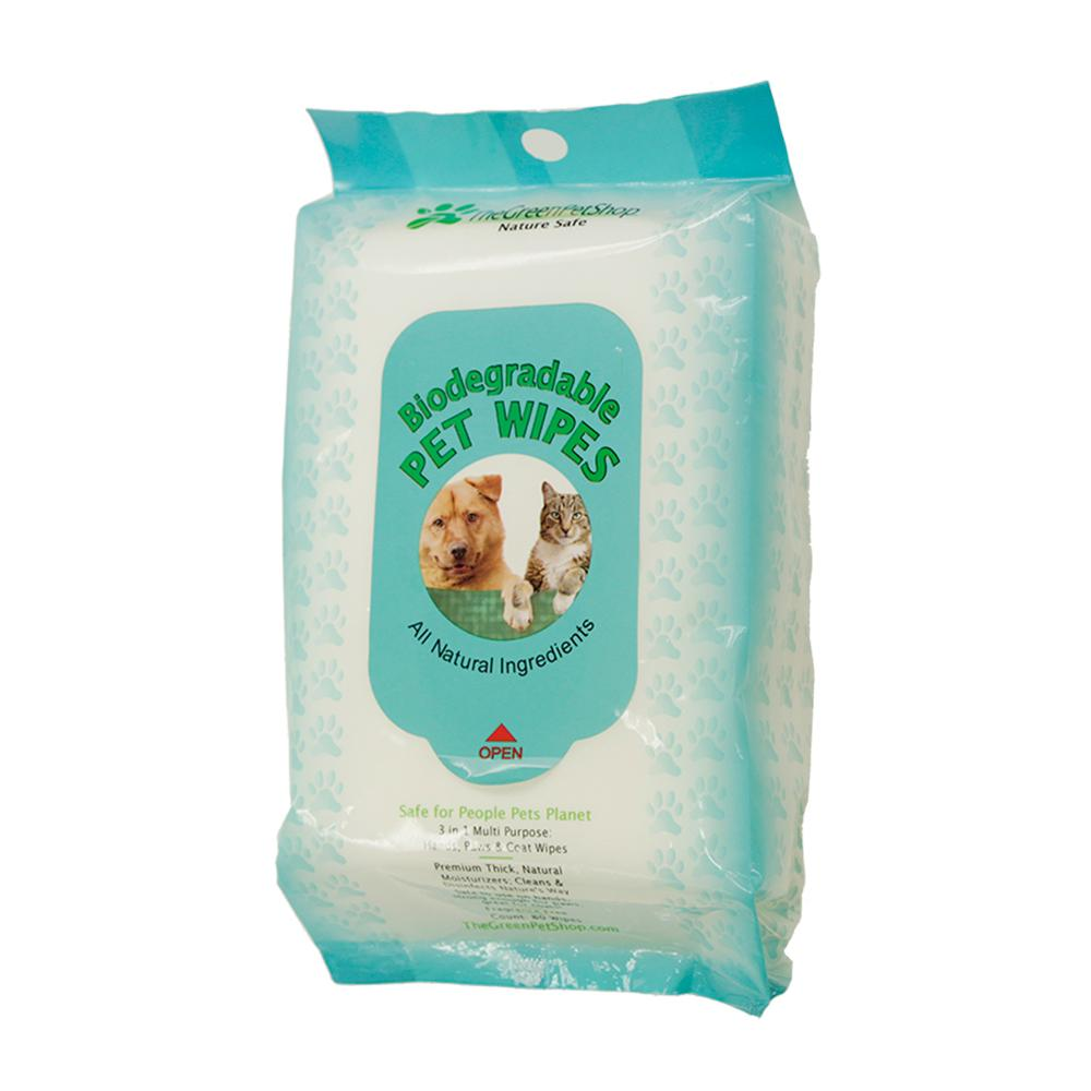 Green Pet Shop Biodegradable Pet Wipes