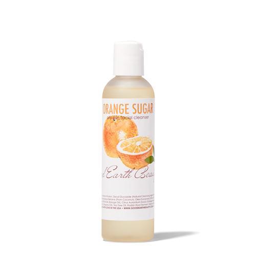 Facial Cleanser - Natural Orange Sugar for Acne or Oil - Prone Skin