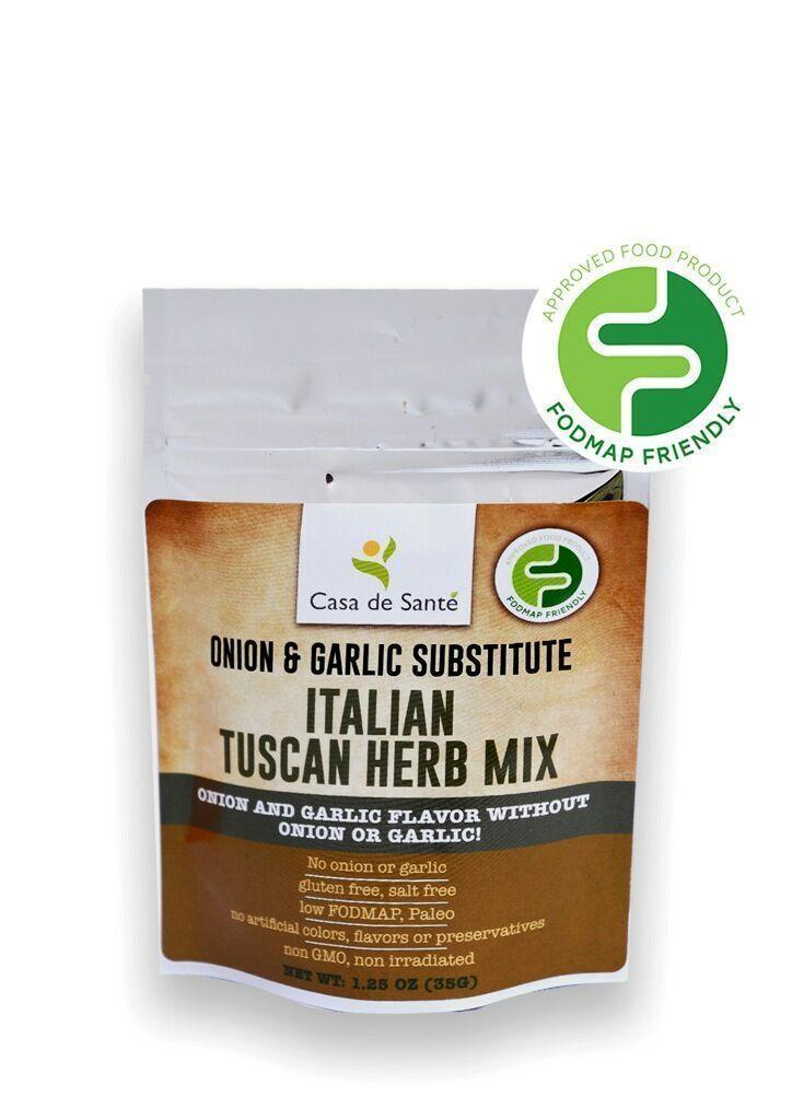 Low FODMAP Certified Spice Mix (Tuscan Herb) - No Onion No Garlic Gut Friendly Artisan Onion and Garlic Substitute Seasonings, Paleo, Kosher