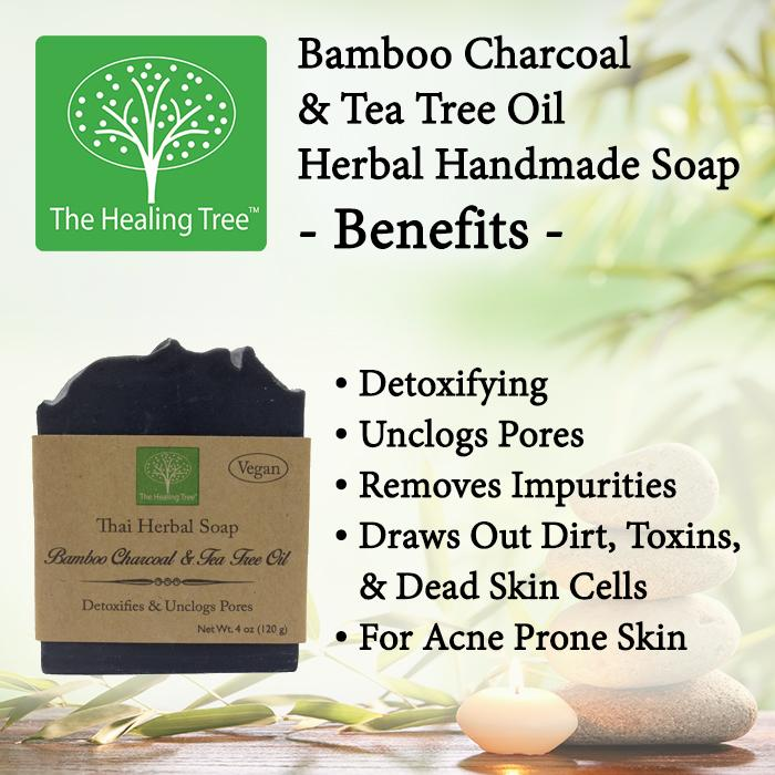 Bamboo Charcoal Tea Tree Oil Handmade Soap For Acne Prone Skin By The Healing Tree Musely