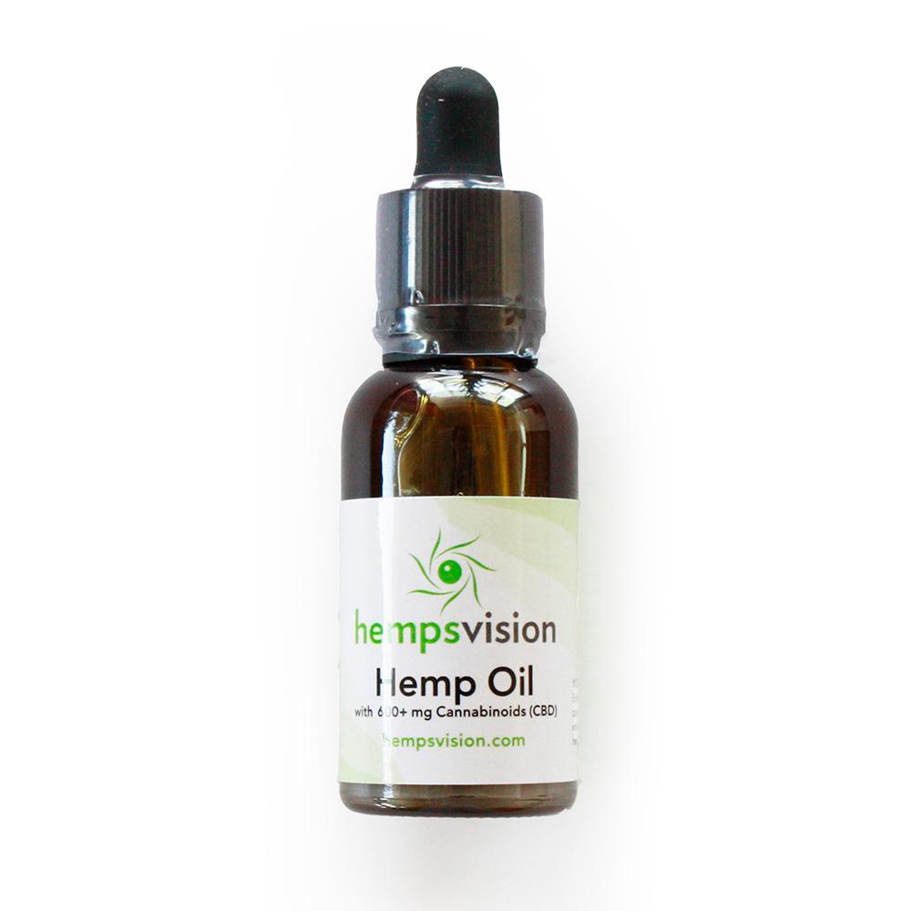 HempsVision Classic Hemp Oil 30 ml with 600+ mg Enriched Hemp oil