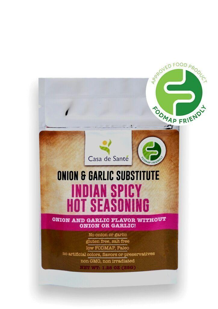 Low FODMAP Certified Spice Mix (Indian Spicy Hot Seasoning) - No Onion No Garlic, Gut Friendly, Artisan, Onion and Garlic Substitute Seasoning, Kosher