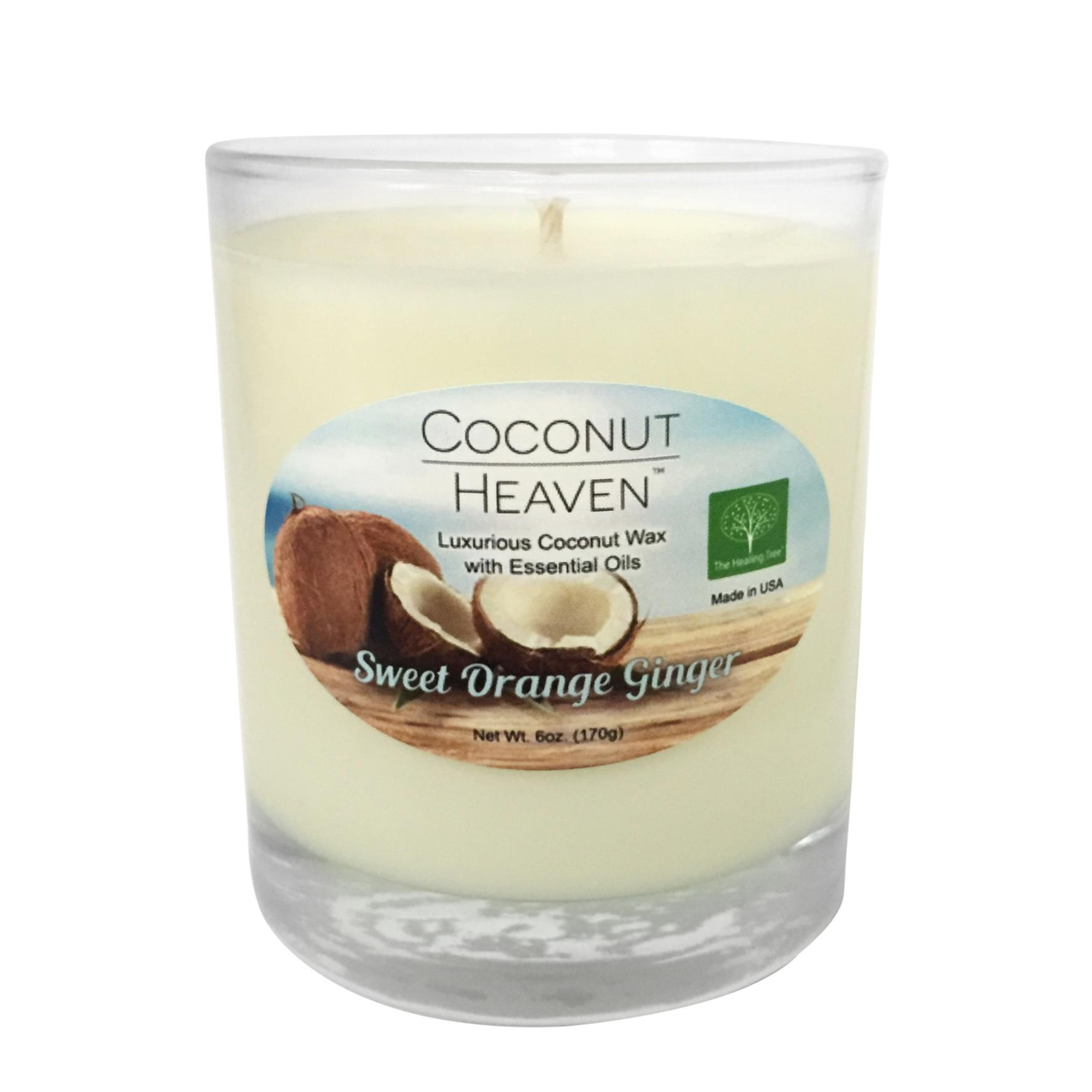Sweet Orange Ginger Coconut Candle