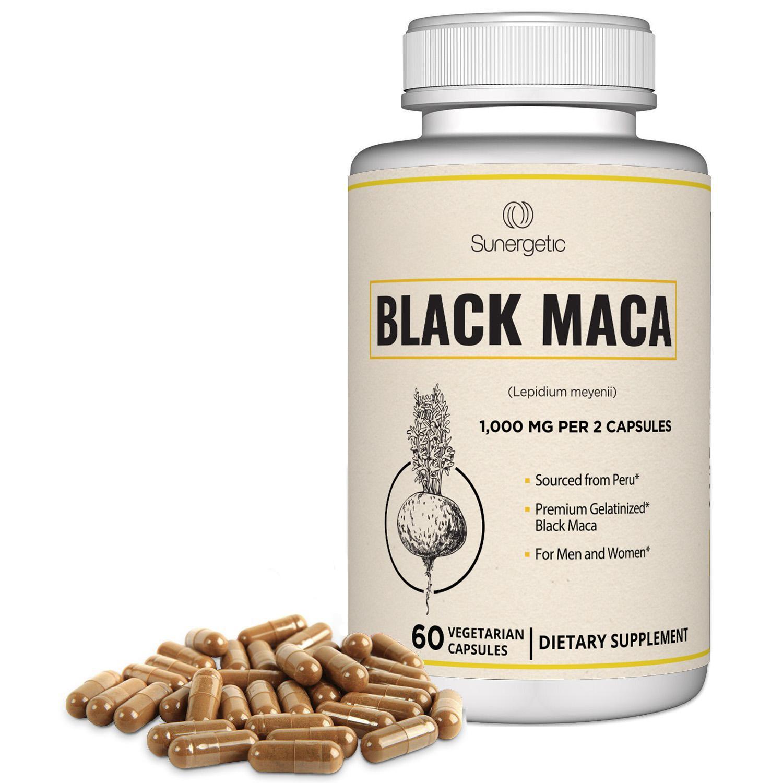 Sunergetic Premium Black Maca Capsules