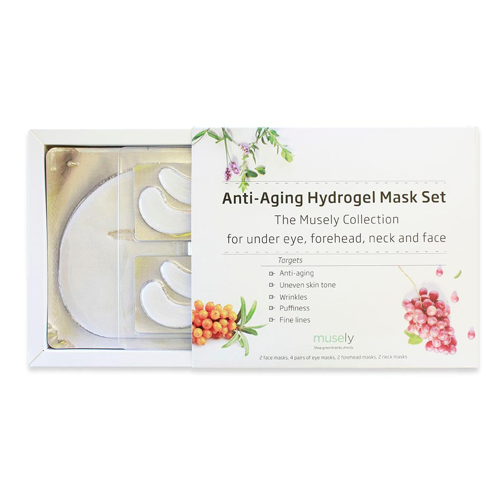 Anti-Aging Hydrogel Mask Set - The Musely Collection for under eye, forehead, neck and face