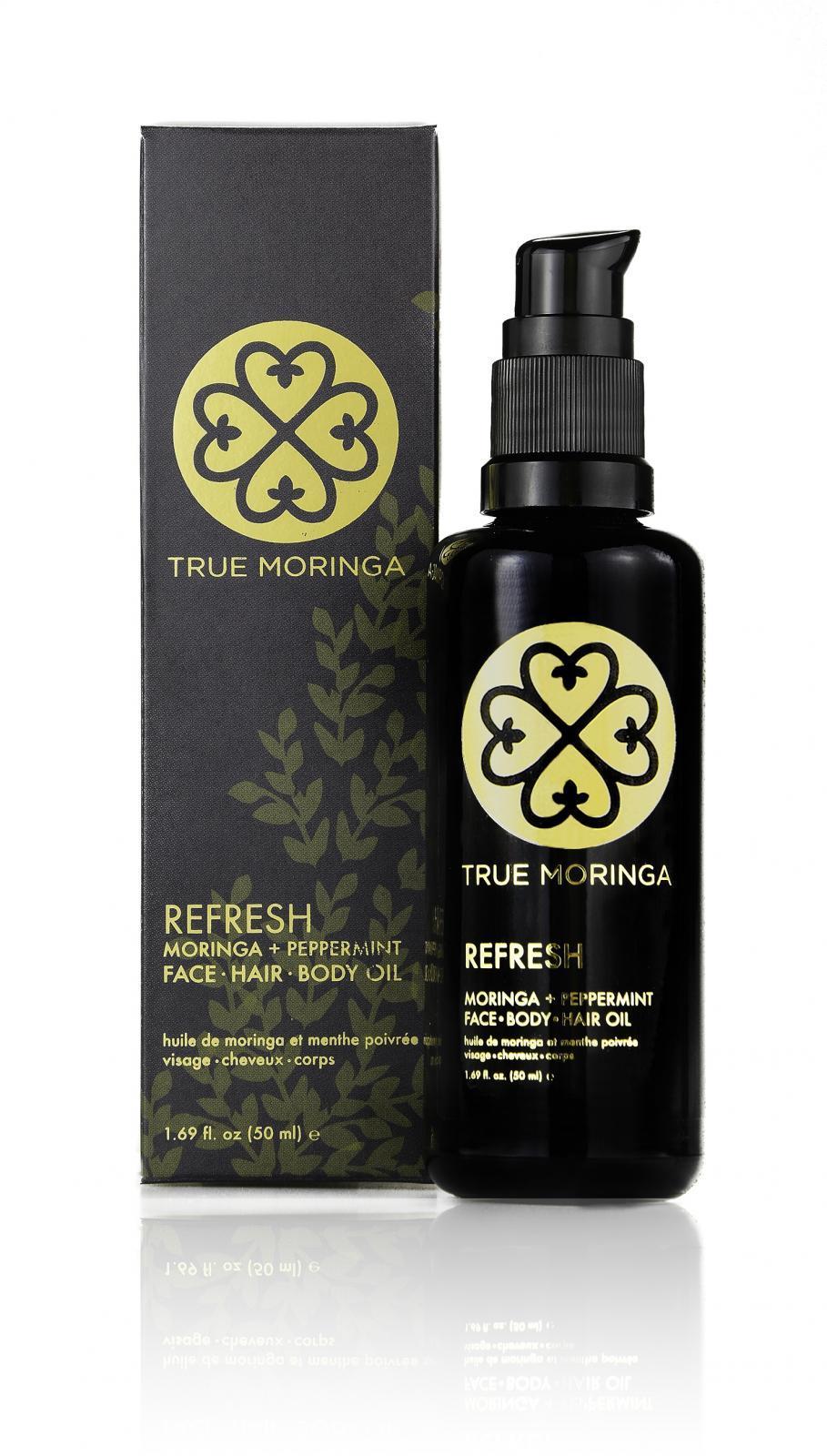True Moringa Face · Hair · Body Oil