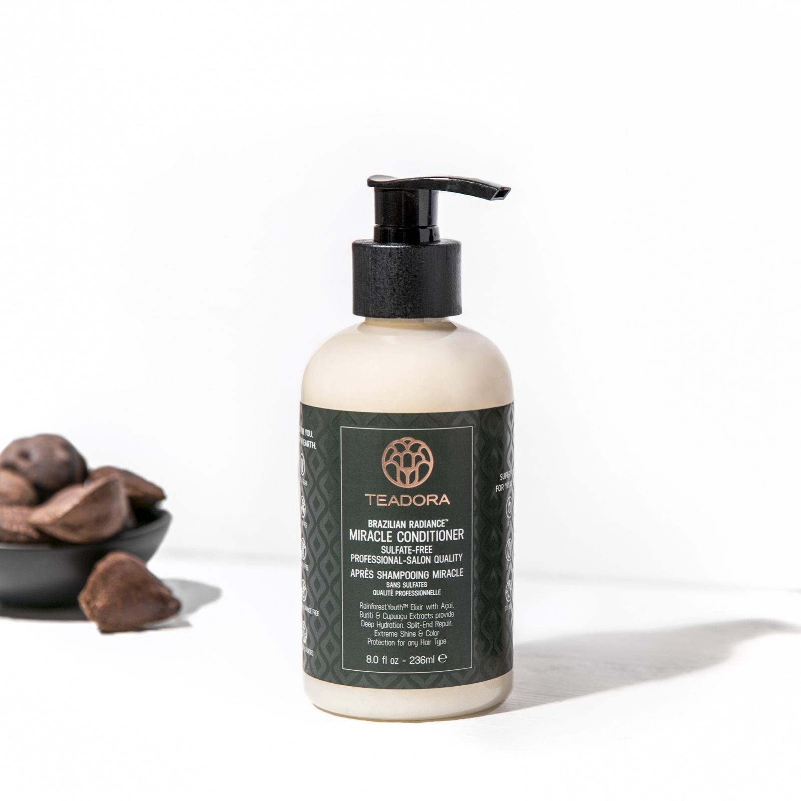 BRAZILIAN RADIANCE MIRACLE CONDITIONER. SULFATE-FREE.