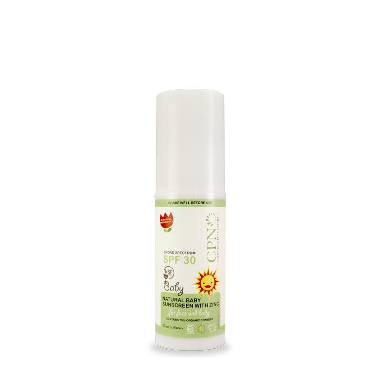 CPN Natural Baby Sunscreen with Zinc, SPF 30