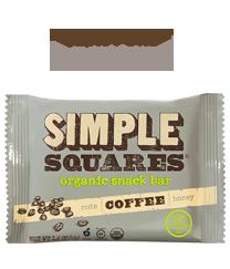 Coffee SIMPLE Squares - Organic Nutrition Bar - Box of 12 bars