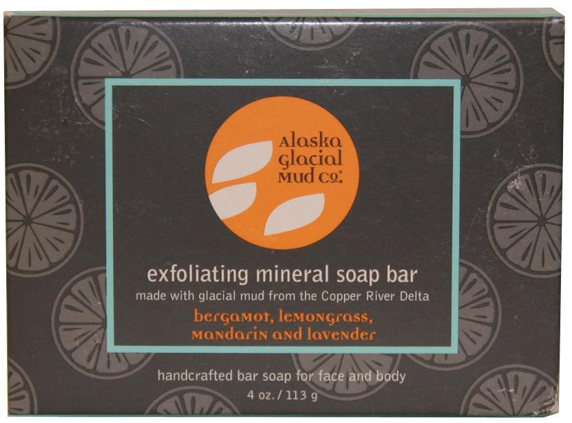 Glacial Mineral Soap Bar - BERGAMOT-MANDARIN-LEMONGRASS-LAVENDER - 2 pack bundle set