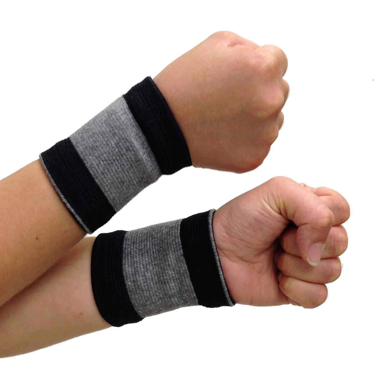 Self-Warming Wrist Bands (1 Pair - 2 Bands) | Bamboo Charcoal Technology