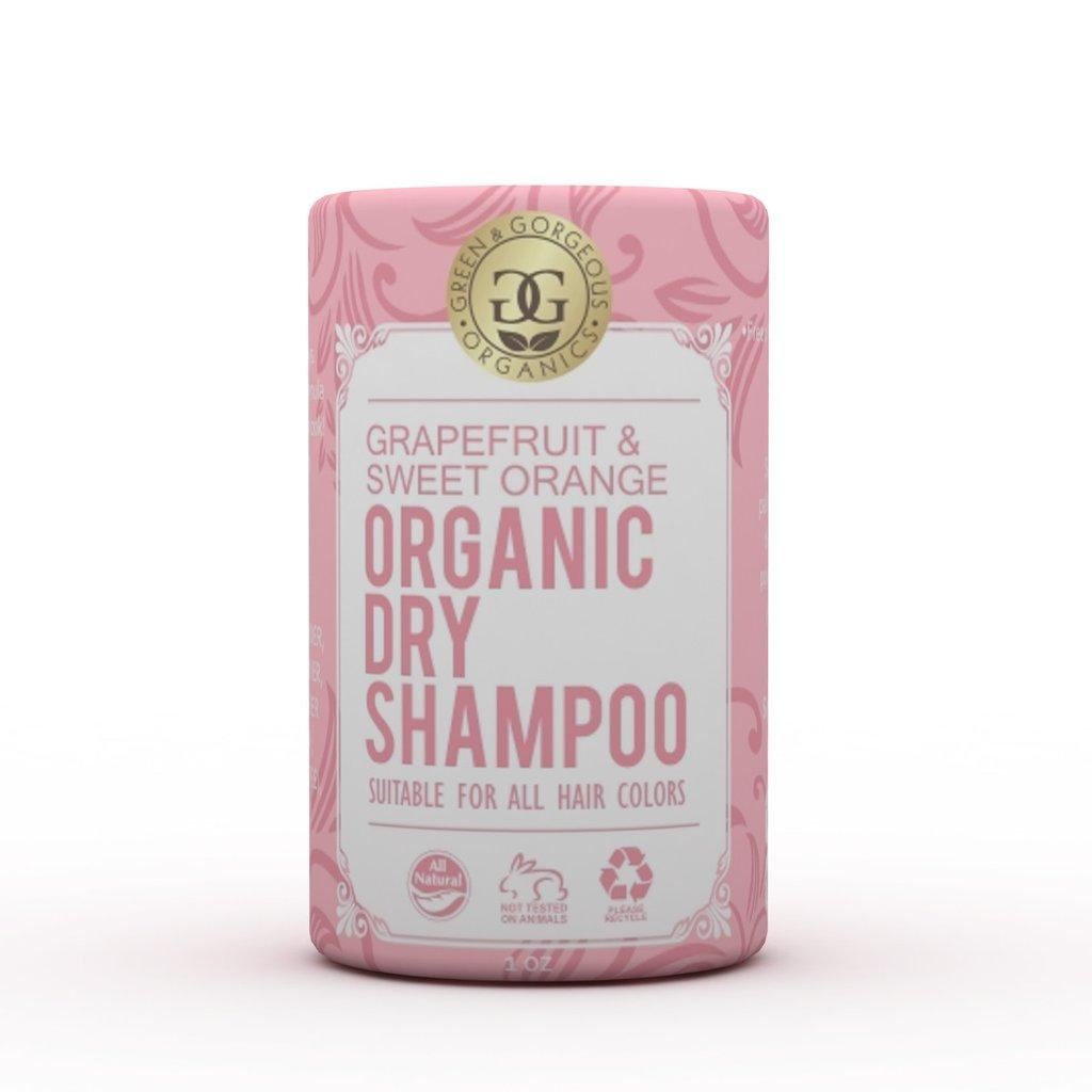 Organic Dry Shampoo Powder Grapefruit and Sweet Orange for All and Oily Hair Types- Travel Size
