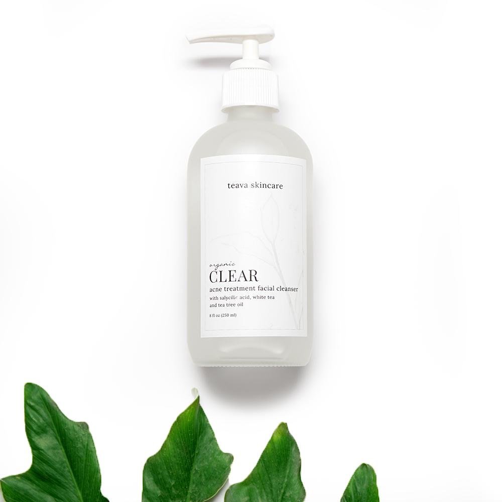 Clear Organic Acne Treatment Facial Cleanser
