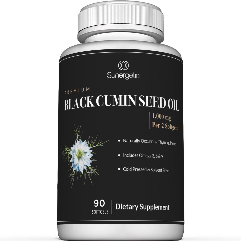 Sunergetic Premium Black Cumin Seed Oil Supplement
