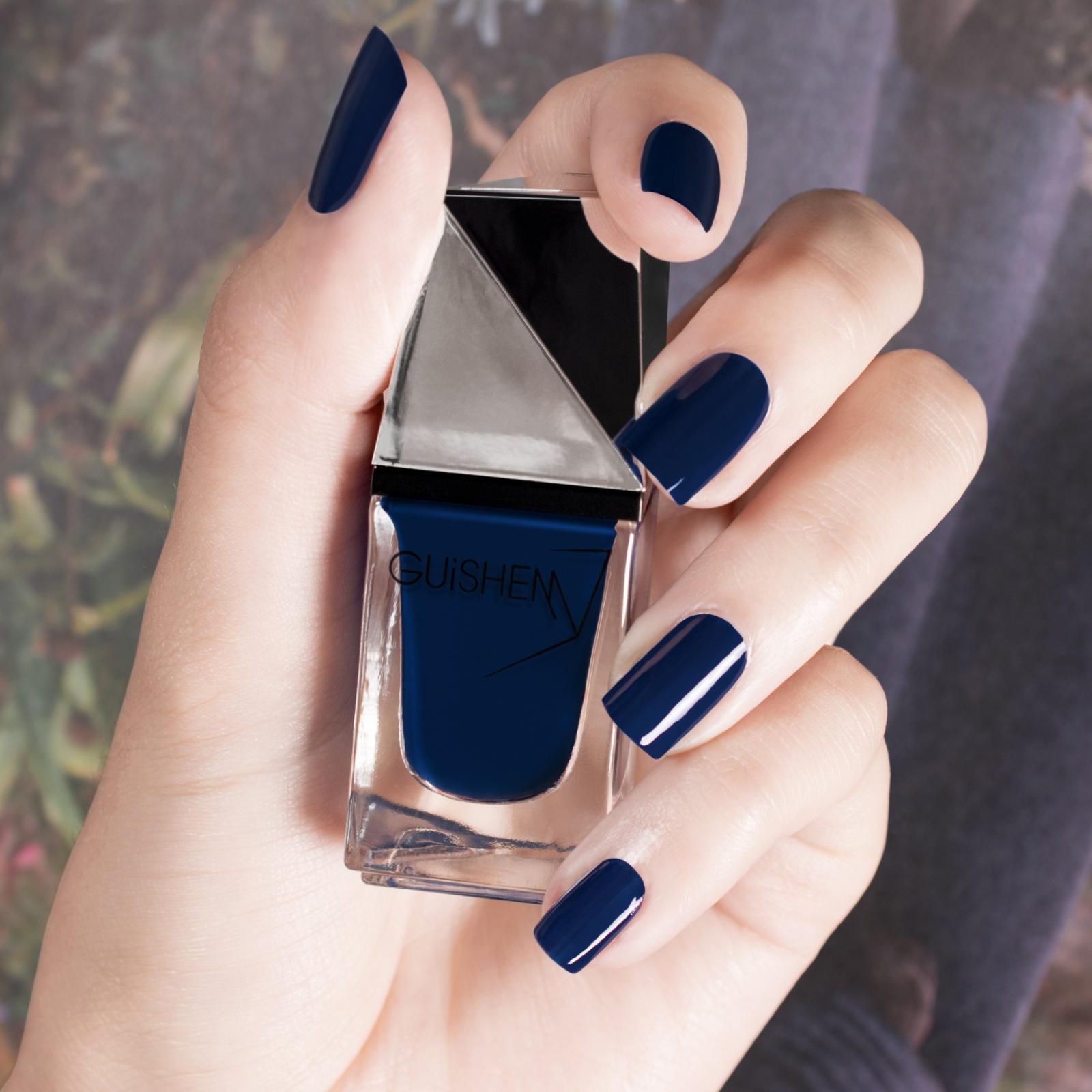 GUiSHEM Premium Nail Lacquer Crème Navy Blue, Azzurro - 091