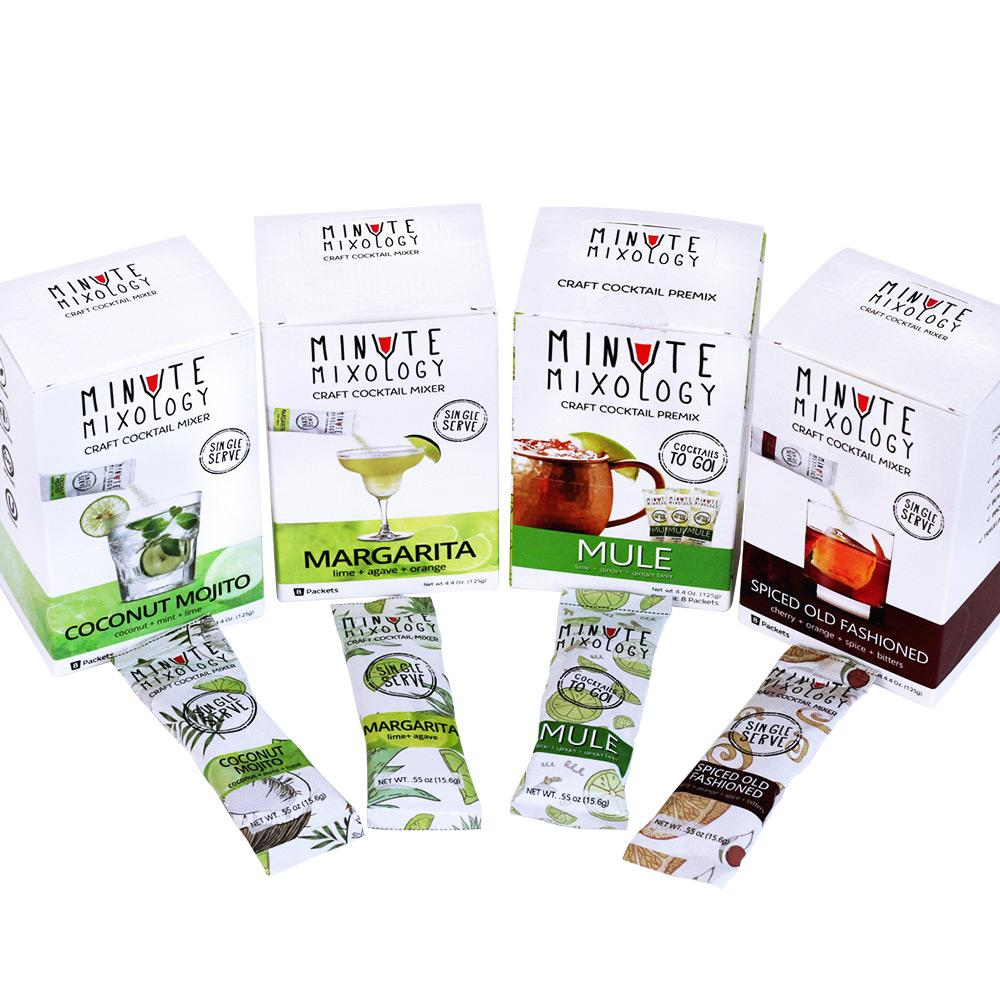 Minute Mixology Cocktail Mixers | Assorted Pack |  4 Flavors (32 Packets)