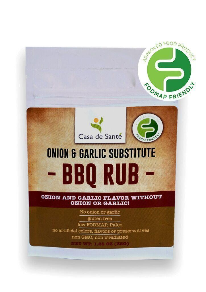 Low FODMAP Certified Spice Mix (BBQ Rub) - No Onion No Garlic, Gut Friendly Artisan Onion and Garlic Substitute Seasonings, Paleo, Kosher