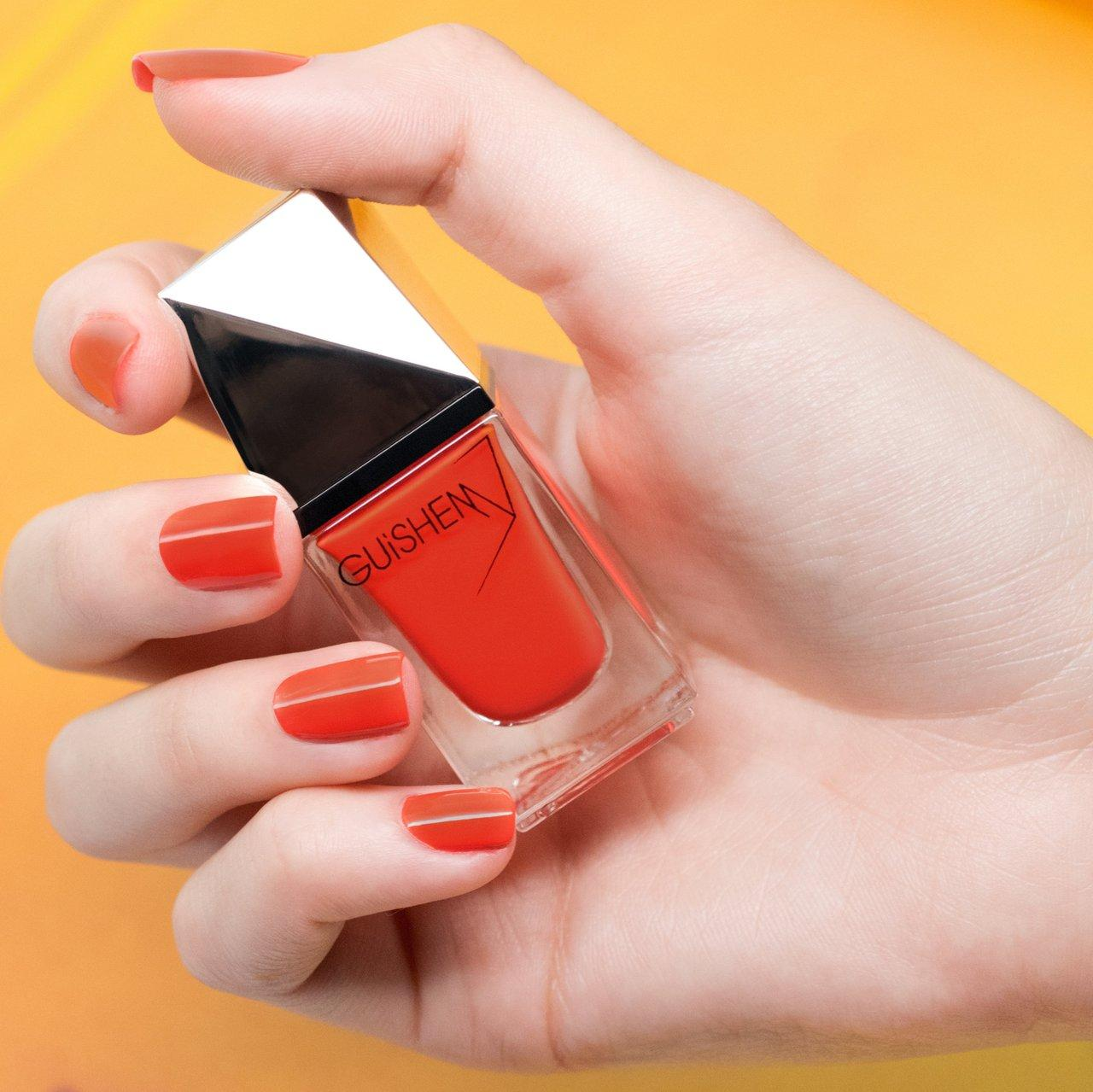 GUiSHEM Premium Nail Lacquer Crème Bright Redish Orange, Tangerine - 240