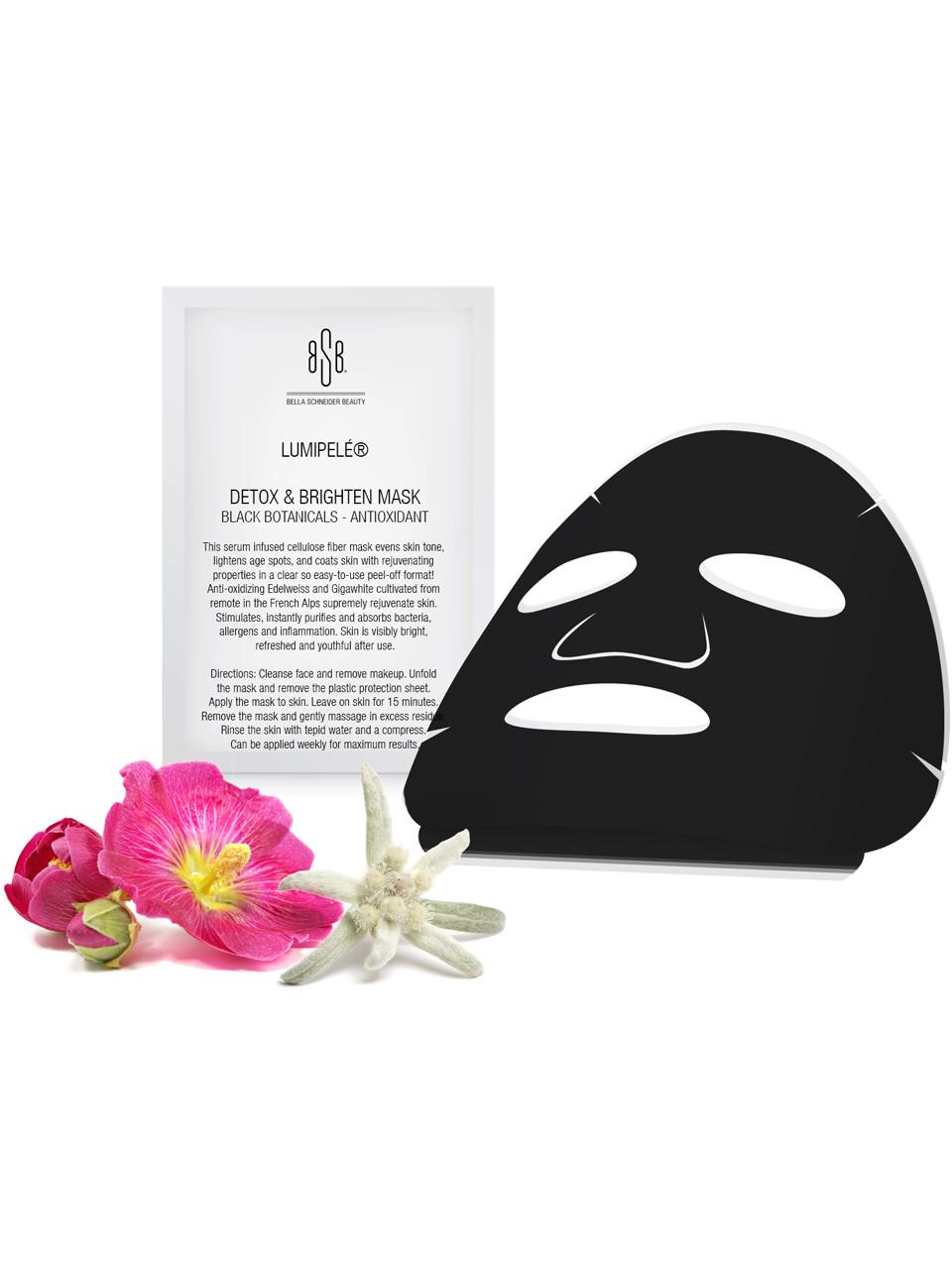 Detox & Brighten Mask Black Botanicals - Antioxidant (Set of 3)