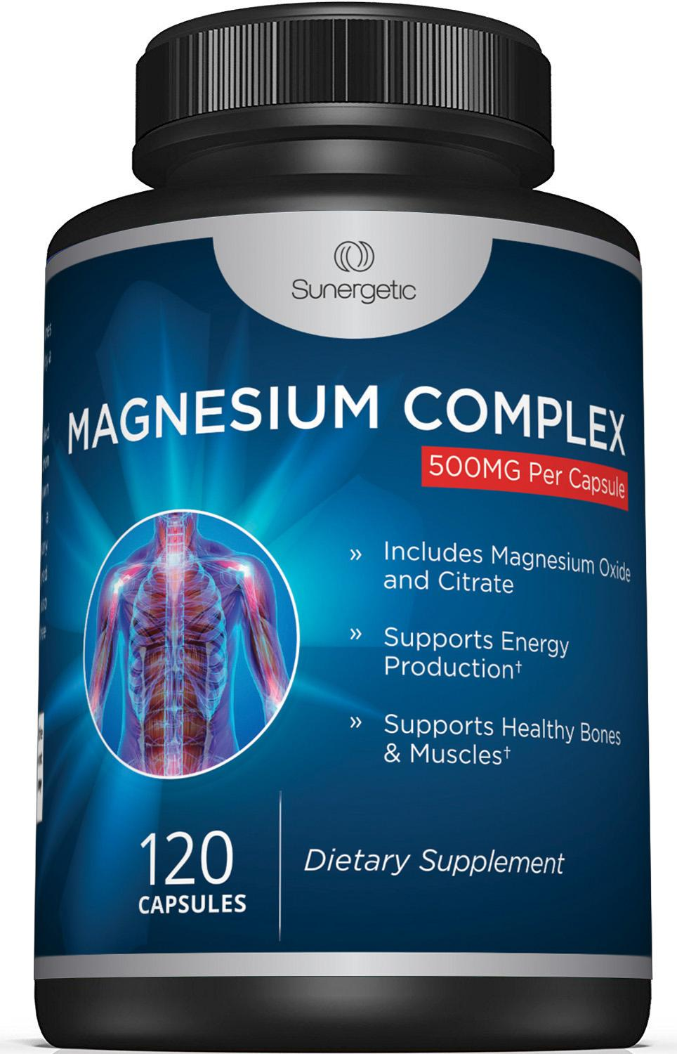 Sunergetic Magnesium Citrate & Oxide Supplement