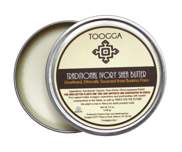 Organic Traditional, Raw, Unrefined Ivory Shea Butter (3.5 OZ)
