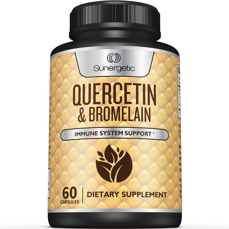 Sunergetic Premium Quercetin & Bromelain Supplement - 1200mg per Serving