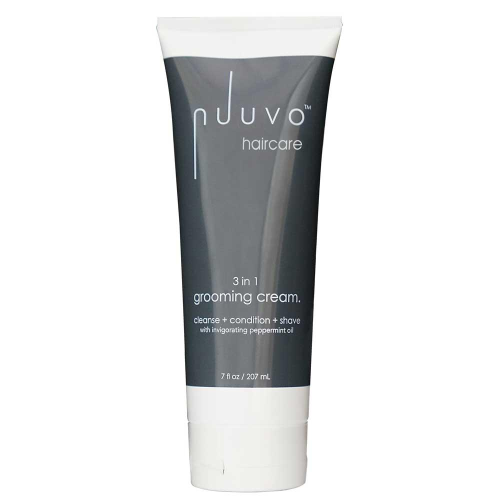 Nuuvo Haircare Salon Professional 3in1 Grooming Cream – Deep Cleanse & Conditioning Plant Based Treatment for Hair & Scalp To Stimulate Hair Rejuvenation + The Ultimate Irritation Free Shave (Unisex)
