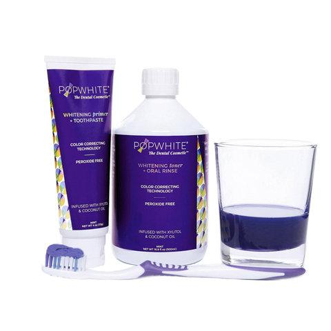 WHITENING primer + TOOTHPASTE and WHITENING toner + ORAL RINSE