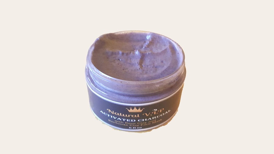 Charcoal Face Mask with Rose and Bentonite Clay