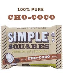 Cho-Coco SIMPLE Squares - Organic Nutrition Bar - Box of 12 bars
