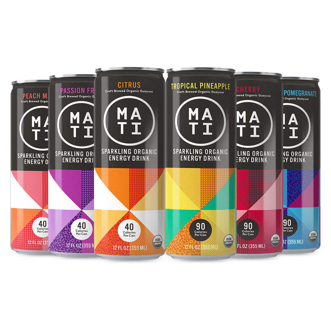MATI Sparkling Organic Energy Drinks - 6 Pack Trial Craft Energy