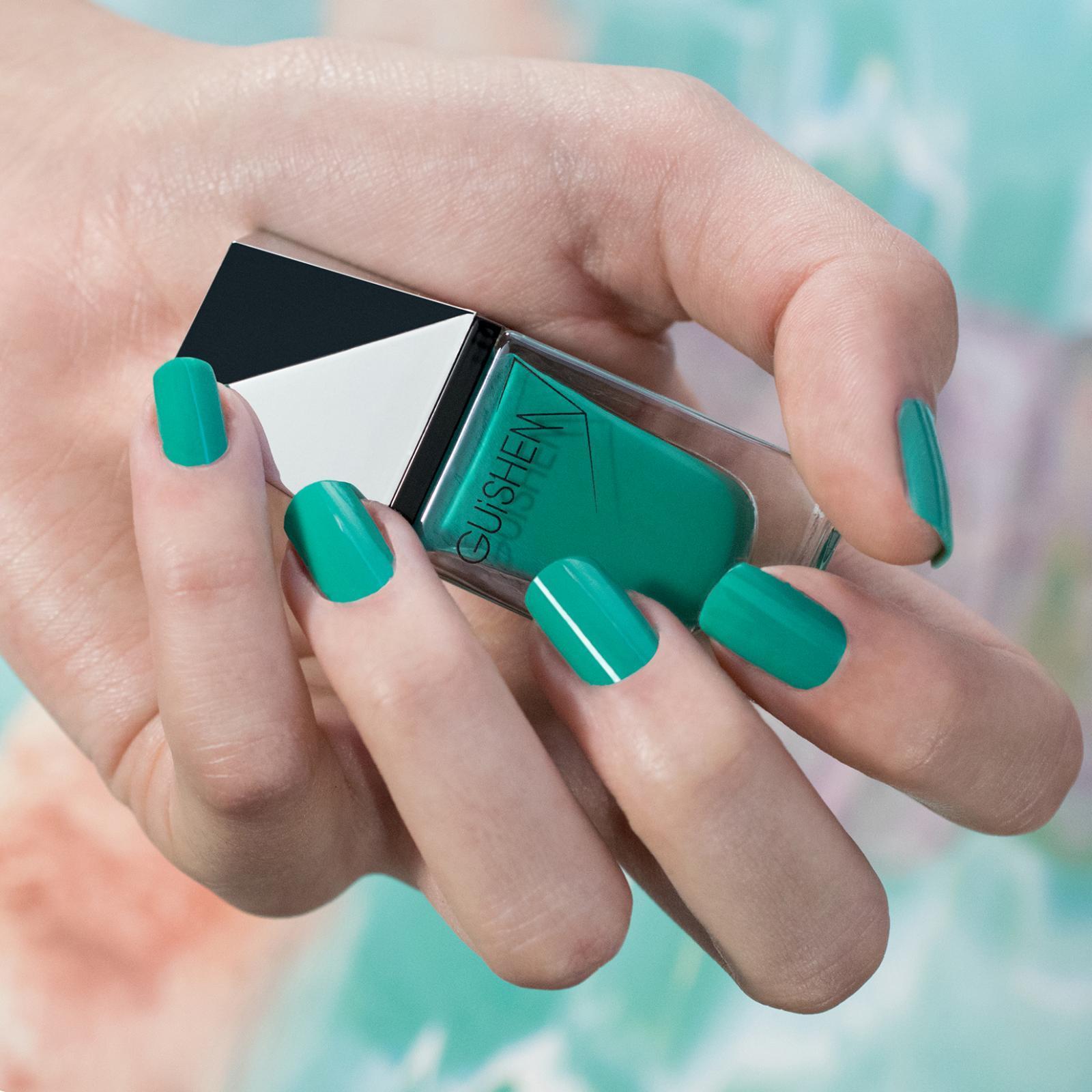 GUiSHEM Premium Nail Lacquer Crème Deep Turquoise, Sheva - 179