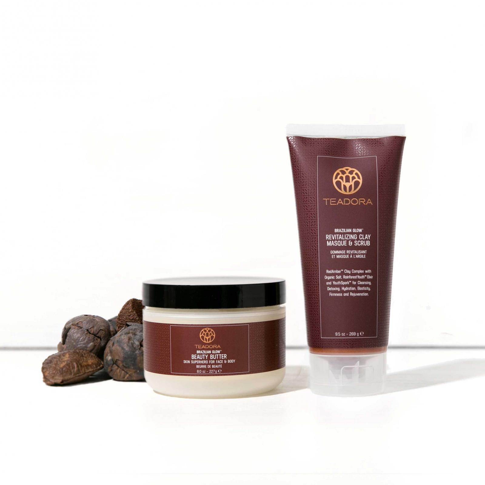 RED CLAY SCRUB & SUPERFRUIT BEAUTY BUTTER SET