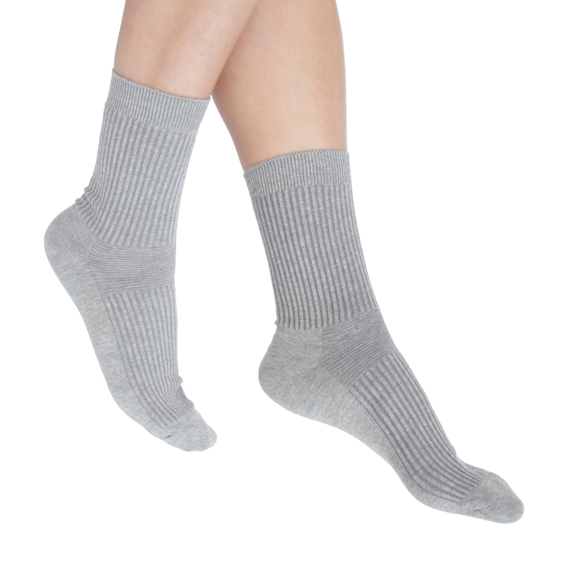 Natural Relief Socks (Grey) (Pair 2-Pack)