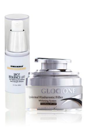 Natural Glocione Anti-Aging Cream+ Instant Lift Skin Care Set (1.0 & 1.0 fl. oz.)