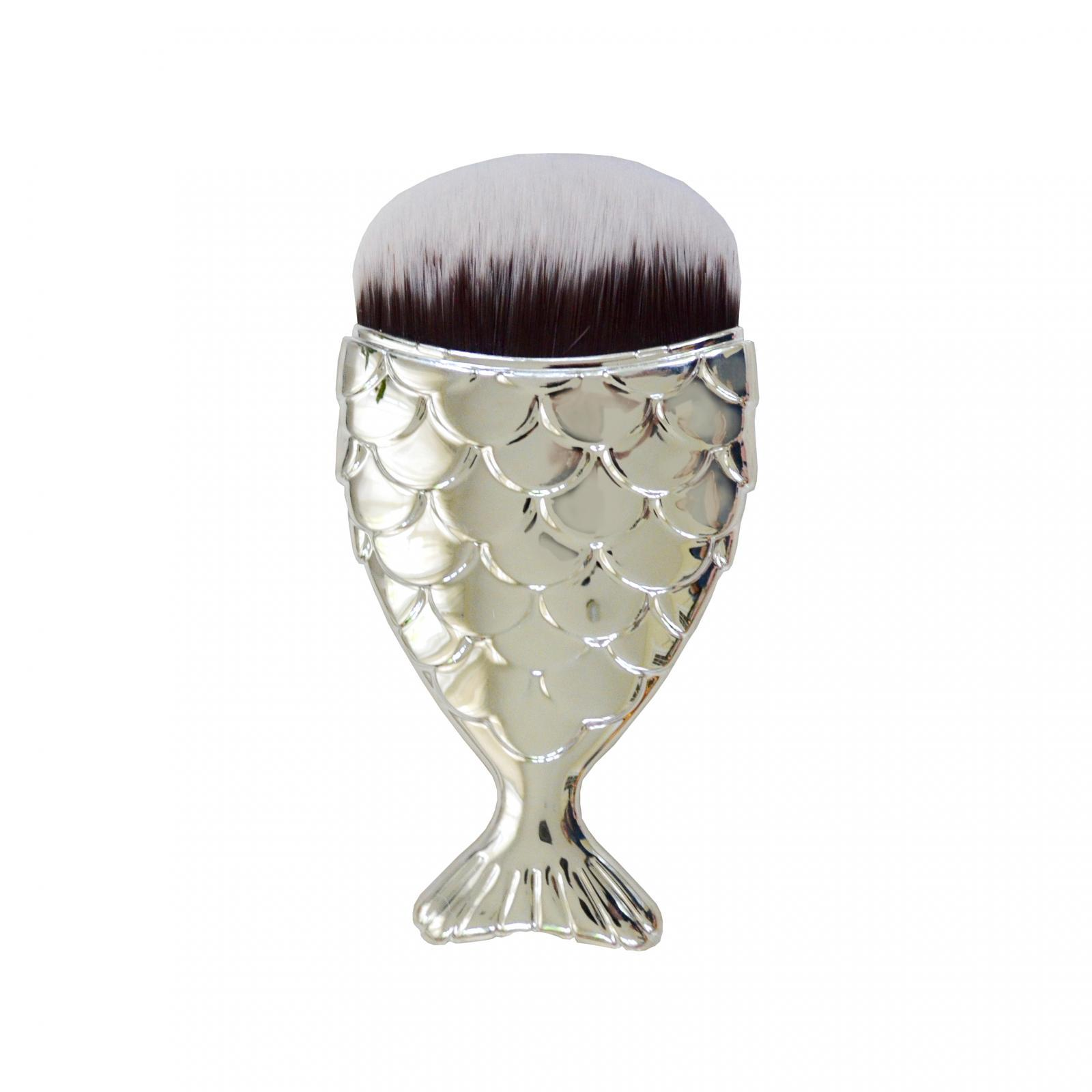 Mermaid Makeup Brush - Silver