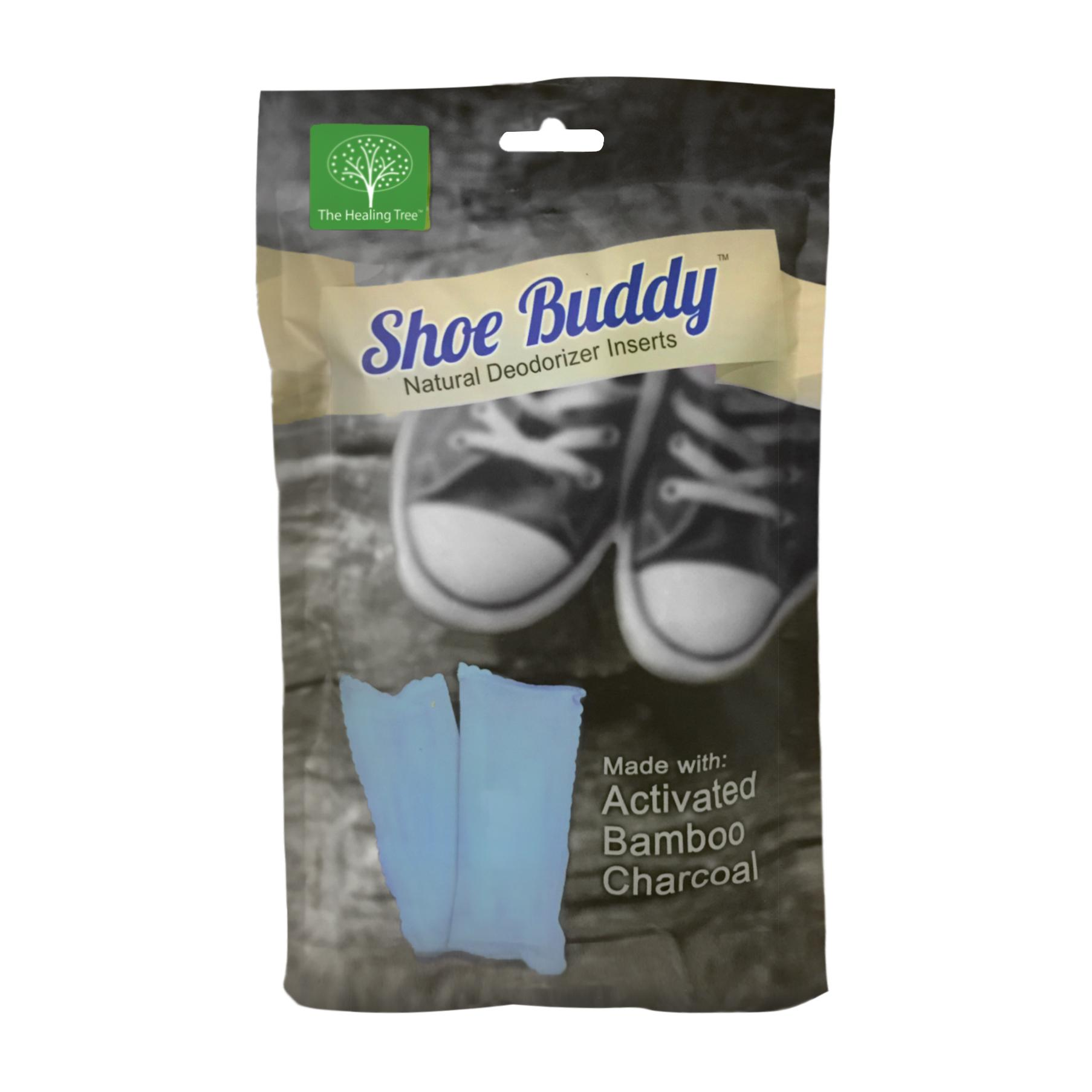 Shoe Buddy Deodorizer Inserts (Pair) - Naturally Absorbs Odor, Toxins, & Pollutants to Keep Your Shoes Fresh