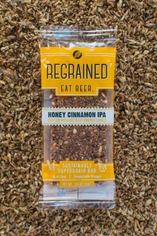 Regrained Sustainable Supergrain Bars - Honey Cinnamon IPA