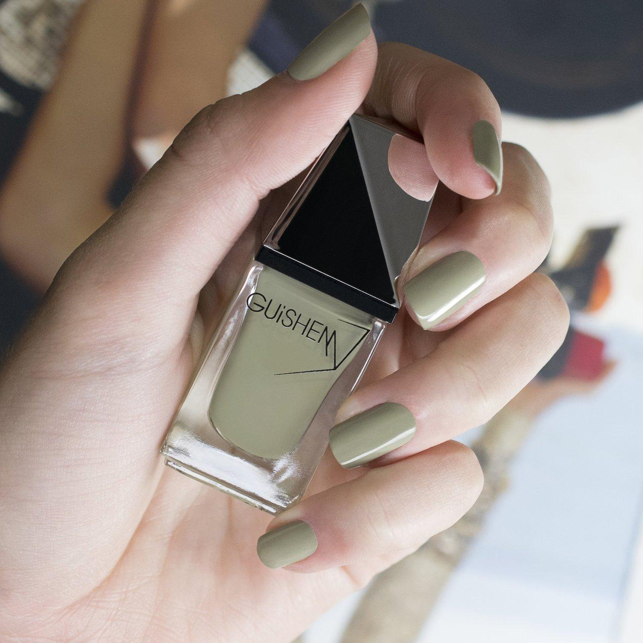 GUiSHEM Premium Nail Lacquer Crème Mint Green, Dusty Green - 180