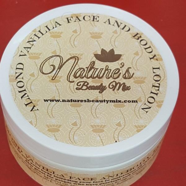 Almond Vanilla Face and Body Cream 8 oz
