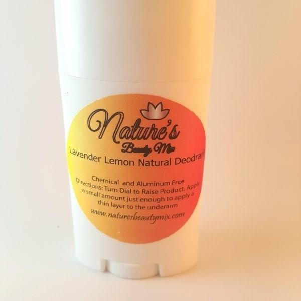 Lavender Lemon Natural Deodorant Aluminum Free