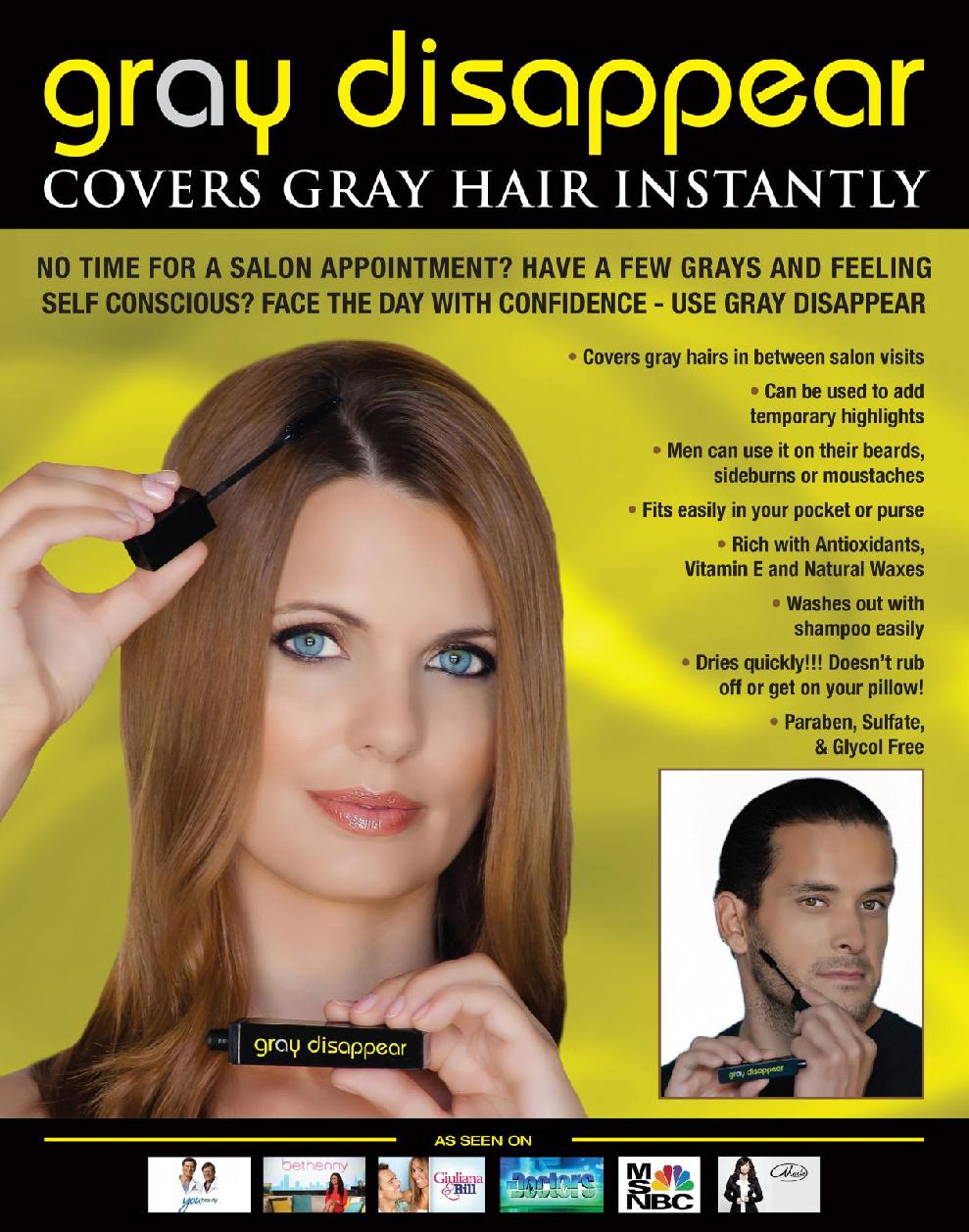 Gray Disappear Paraben Free Hair Mascara Goldblonde By Generation