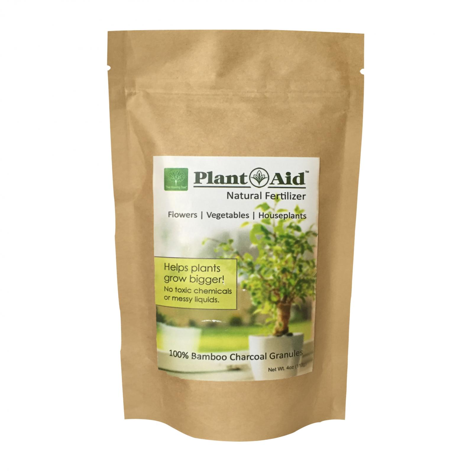 Plant Aid Natural Fertilizer - Helps Boost Plant Growth by up to 25% - Bamboo Charcoal - Non-Toxic