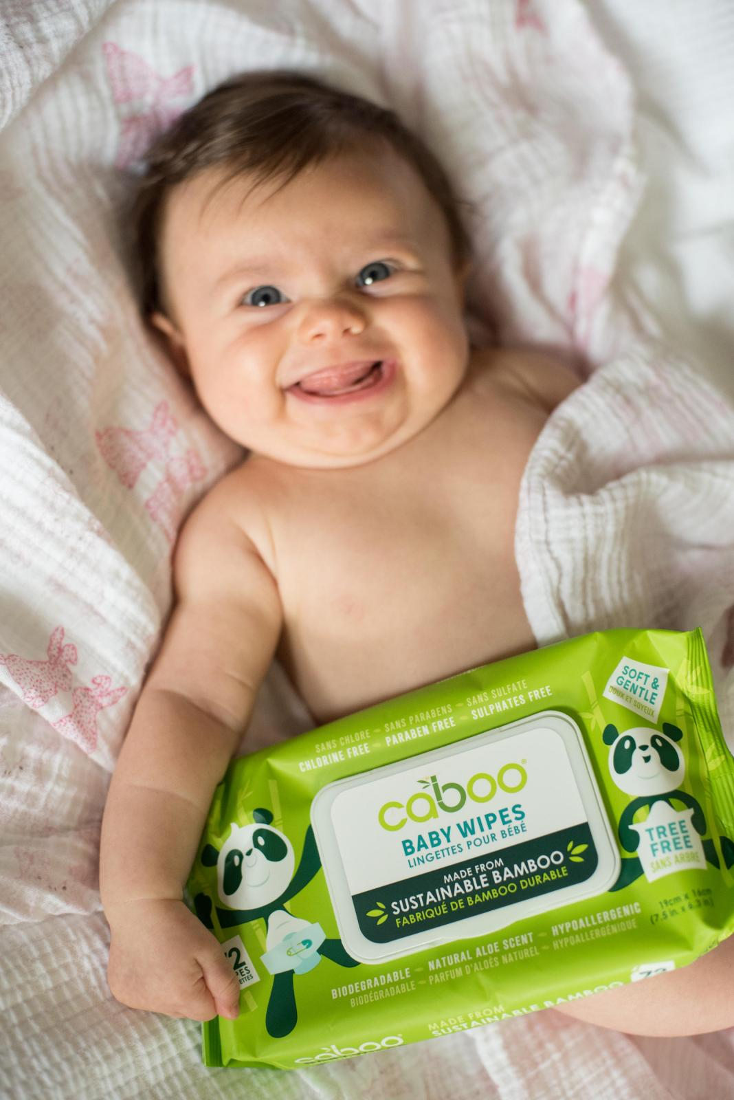Caboo Bamboo Baby Wipes, 72ct Flip Top
