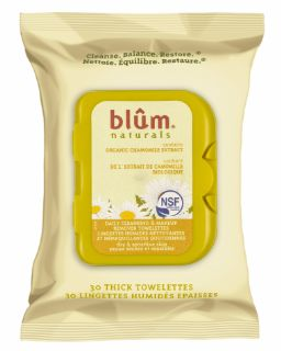 Blum Naturals Daily Cleansing & Makeup Remover Towelettes - Dry & Sensitive Skin