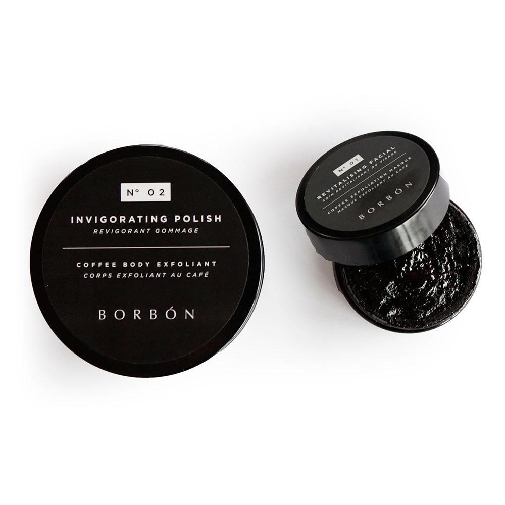 Borbón Duo - N° 01 Revitalising Facial and N° 02 Invigorating Body Polish