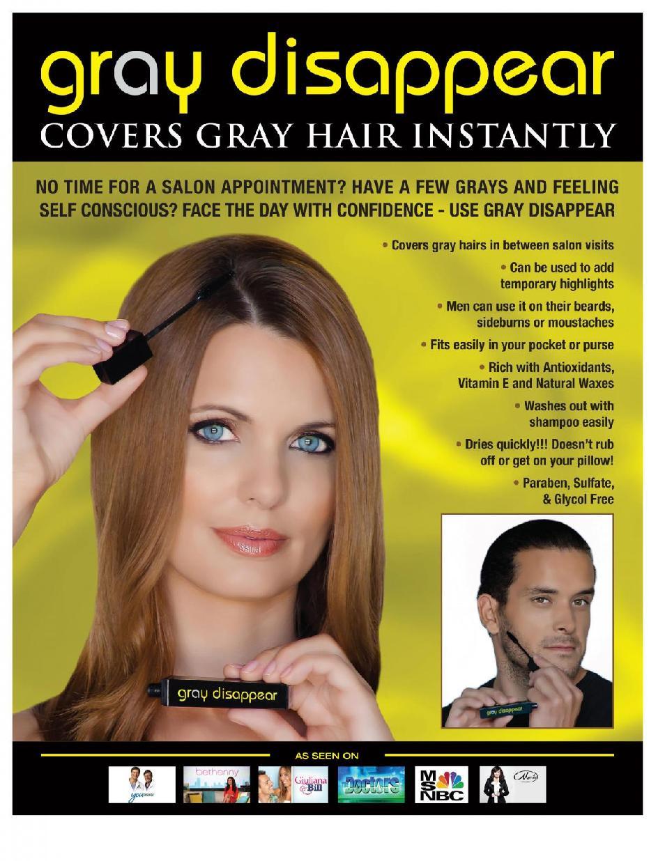 Gray Disappear Paraben Free Hair Mascara Onyx Black By Generation