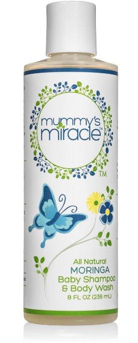 Mummy's Miracle Moringa Baby Shampoo and Body Wash, 8-Ounce